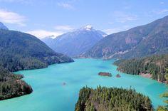 Marblemount, Washington - EUA Diablo Lake Uma caminhada, pra relaxar. #places