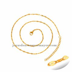 cadena ancho 2mm dorado estilo simple en acero inoxidable -SSCDG95136