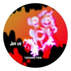 #Zombie  - Halloween Invitation - #halloween #invitation #cards #party #parties #invitations #card