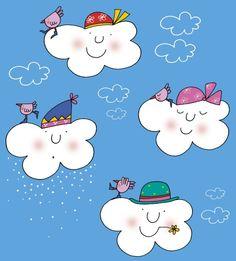 La nuvola Olga innaffia i girasoli