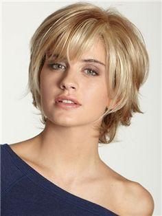 chic-medium-hair-styles-with-bangs.jpg - chic-medium-hair-styles-with-bangs. Short Wavy Bob, Short Hair With Layers, Short Hair Cuts, Straight Bob, Wavy Bob Haircuts, Haircuts With Bangs, Haircut Short, Short Sassy Haircuts, Medium Hair Styles