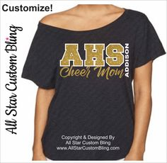 Cheer Mom Off Shoulder Dolman Shirt, Glitter Cheer Mom Shirt