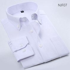Long Sleeve Button-Up Neck Men Dress Shirts Solid Striped Fashion Oxford Formal Men Casual Business Shirts With Pocket