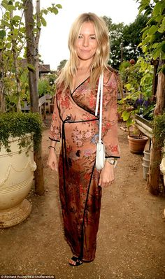 Boho chic: Sienna Miller stayed true to her sartorial roots on Thursday night as she atten...