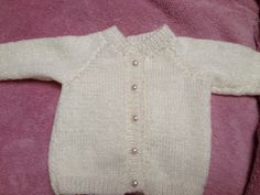 Baby cardigan hand knitted for a friend's baby.