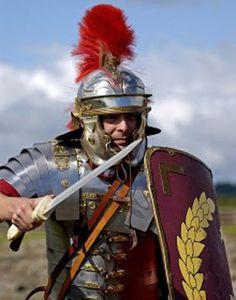 """Roman centurion""  But the helmet plume looks wrong for a centurion"