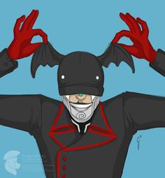 Rabbit from Steam Powered Giraffe is wearing Toothless
