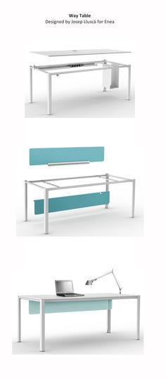 #WayTable from @Lori Bearden Schoeneman  is a modular system tables, height adjustable and demountable archive furniture specially designed to offer versatile solutions for contract  and home office spaces.