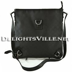 Gucci 268642 G1X9R Abbey GG Logo Nylon Messenger Handbag Black  100% AUTHENTIC and NEW WITH TAGS.