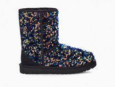 Classic Short Stellar Sequin Boot | UGG® Winter Is Comming, Slipper Boots, Crazy Shoes, Suede Heels, Ugg Boots, Gifts For Women, Uggs, Sequins, Classic