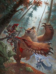 Cool Fantasy Illustrations by Ralph Horsley (World of Warcraft ? Fantasy Warrior, Fantasy Rpg, Fantasy Artwork, Fantasy World, Art And Illustration, Weird Creatures, Fantasy Creatures, Dungeons And Dragons, Fantasy Kunst