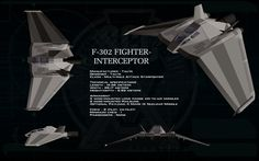 Tau'ri F-302 Fighter Interceptor ortho by unusualsuspex