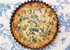 Gruyere, Mushroom, Spinach & Bacon Quiche courtesy of Sugar & Spice by Celeste: My Favorite Quiche!