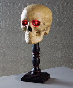 Love this Lighted Skull Spindle on #zulily! #zulilyfinds