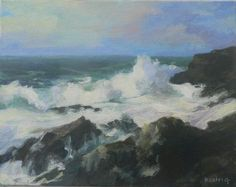Backwash, oil on canvas by Kathryn Colvig . I painted this little jewel while visiting one of my favorite places and dear friends in Costa Rica. Pura Vida!
