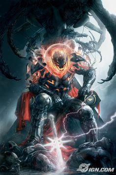 "Annihilation : Conquest # 5 by Aleksi Briclot / A cover for Marvel ""Annihilation : Conquest #5"" featuring Ultron!! / https://www.artstation.com/artwork/Dx5PG"