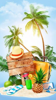 summer vacation wallpaper by georgekev - - Free on ZEDGE™ Summer Backgrounds, Wallpaper Backgrounds, Iphone Wallpaper, Wallpapers, Fond Design, Sun Holidays, Beach Background, Summer Wallpaper, Sky Sea