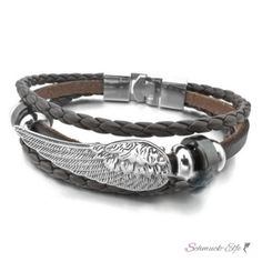 @EasiestFun @ezpopsy #follower #following #Accessories #Jewelry #Crafts #Necklace #style #Fashionwomen #women #2016 #girls #sexy Armband  Engelsflügel ECHT Leder dunkel braun  im Organza...