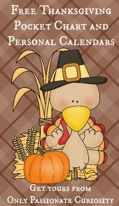 Free Thanksgiving calendar collection from Only Passionate Curiosity