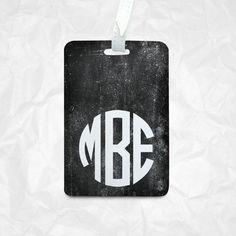 Personalised PU Leather Luggage Tag, Travel Tag, Bag Tag, custom name monogram initial Personalized Leather Luggage Tag, Custom Luggage Tag