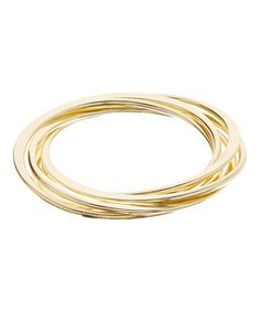 Loving this Goldtone Intertwined Trio Bangle on #zulily! #zulilyfinds