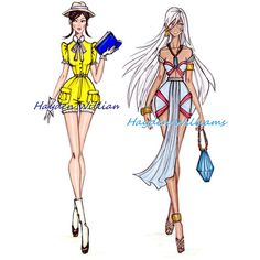 jane and kida illustration Disney Fashion Sketches, Disney Princess Sketches, Disney Princess Fashion, Disney Princess Art, Disney Art, Hayden Williams, Robes Disney, Disney Dresses, Moda Disney
