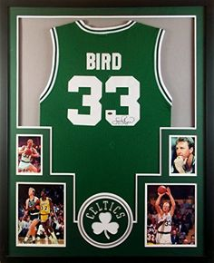 252fee9192c Larry Bird Framed Jersey Signed Mounted Memories COA Autographed Boston  Celtics Mister Mancave http