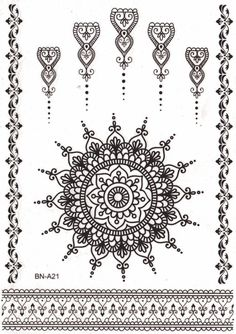 Mandala Temporary Tattoo Sheet Set at MyBodiArt