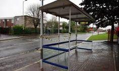 Council estate bus stop