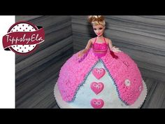 Prinzessin Torte Anleitung Deutsch How to make a princess barbie doll cake w. Princess Barbie Dolls, Barbie Cake, Doll Tutorial, Whipped Cream, Icing, Cake Decorating, Birthday Cake, Christmas Ornaments, Holiday Decor