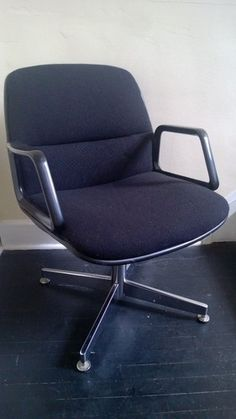 All Steel Inc Mid Century Modern Industrial fice Chair