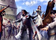 Sandor and Sansa from a song of ice and fire.