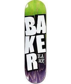 "Baker Riley Stacked Name 8.12"" Skateboard Deck"