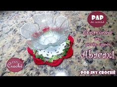 Porta copos de crochê   ponto abacaxi - JNY Crochê - YouTube