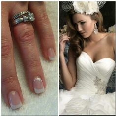 #byMario wedding nails by #MarioTricociSchaumburg @GailrMT (photo cred). #MarioTricoci #ChicagoSalon #ChicagoSpa