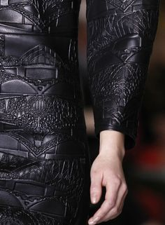 Mary Katrantzou f/w 2013 - Embossed Leather