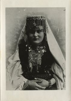 Portrait of a woman in a formal Christian costume from Herzegovina, © The Historical Archive of Sarajevo. 1898