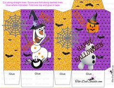 FROZEN Halloween Pinch Bag For Treats Trick or by CraftFairy7
