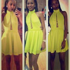 Lime Green! Worn once. $60 + free shipping thru 🅿️ay🅿️al. bebe Dresses