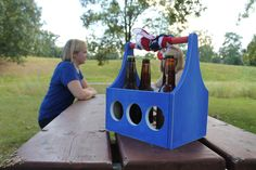Red, White, Blue beer caddy. http://sixnsticks.com/