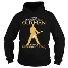 Awesome Tee Old Man Electric Guitar T-Shirts #tee #tshirt #named tshirt #hobbie tshirts # Electric Guitar