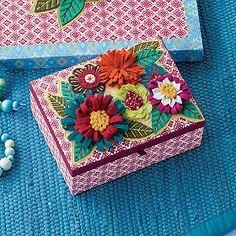 Fabric Flower Jewelry Box
