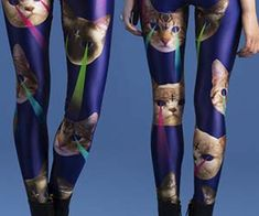 It seems the collective will of the entire internet was responsible for the design of the laser space cat leggings. Some may call it tacky, we call it awesome. Cute and lovable cats shooting freaking lasers out of their eyes?! What more could we ask for from an article of clothing. Buy It $58.99 via…