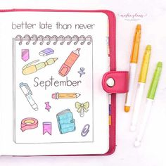 "Want to move your love for stationery to your Bullet Journal? Check out my September ""Back To School"" themed Bullet Journal setup! Cover page, weekly log, monthly recap and a few more pages for you to get inspired to give a try to this fun theme. #mashaplans #bulletjournal #backtoschool #bujo Back To School Bullet Journal, Bullet Journal Health, Bullet Journal September, Bullet Journal Month, Bullet Journal Books, Bullet Journal Cover Page, Bullet Journal Ideas Pages, Bullet Journal Inspiration, Book Journal"