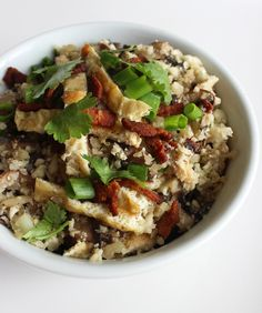 igh in protein and low in carbs, Asian cauliflower fried rice is truly a Paleo eater's dream come true.