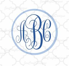 Curly Circle Monogram Cuttable Font Set in SVG, EPS and DXF Format for Cricut Explore, Silhouette Cameo and Brother ScanNCut and others Circle Font, Circle Monogram, Monogram Alphabet, Monogram Fonts, Monograms, Cutting Tables, Cricut Design, Monogram