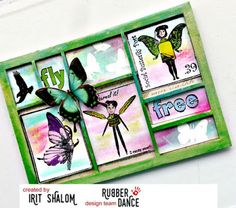Things with Wings Tutorial, with  stamps from Rubber Dance and printers tray from Tando