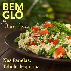 O Nas Panelas de hoje conta mais uma vez com o cinesiólogo esportivo Peter Picolin.  Vem com a gente e aprenda a preparar um tabule pra lá de saudável, vem! #bemglo #naspanelas #peterpicolin #quinoa