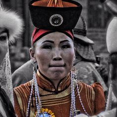The lady. Ulaanbataar, Mongolia.