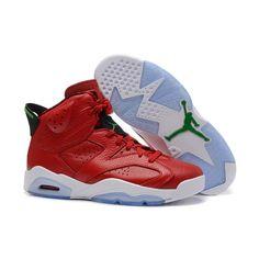 19c1c8696e1ff1 buy air jordan 6 mvp history of red leather green retro mens